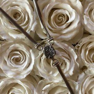 Drusy Lariat Necklace